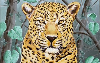 Leopard acrylic on canvas